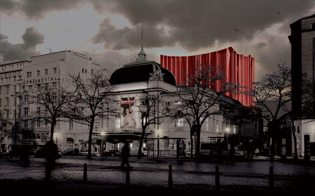 Skitse til teaterbygning i Hamborg