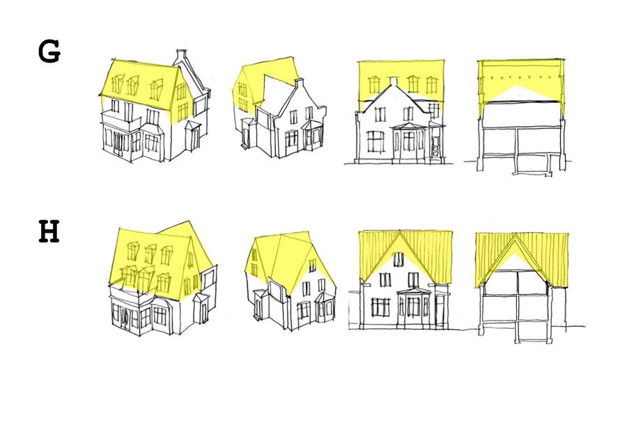 Skitse til ombygning af villa på Kong Georgs Vej