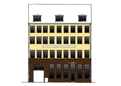 Bertelsen og Scheving - Bombardementshuset i Krystalgade - Renovering