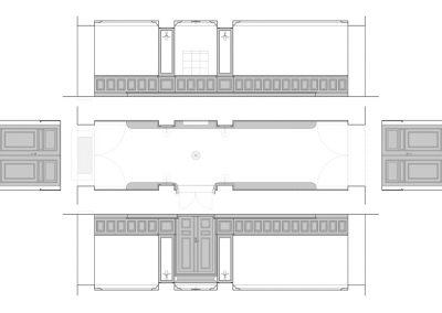 Bertelsen og Scheving - Portrum ved Øster Farigmagsgade - Restaurering