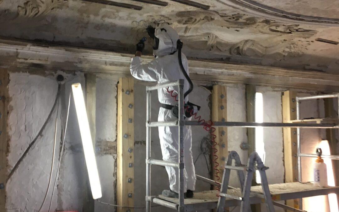 Holsteins Palæ: Restaurering efter brand