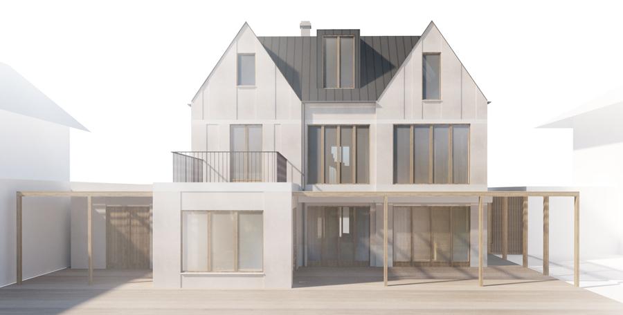 München: Skitseprojekt til privat villa