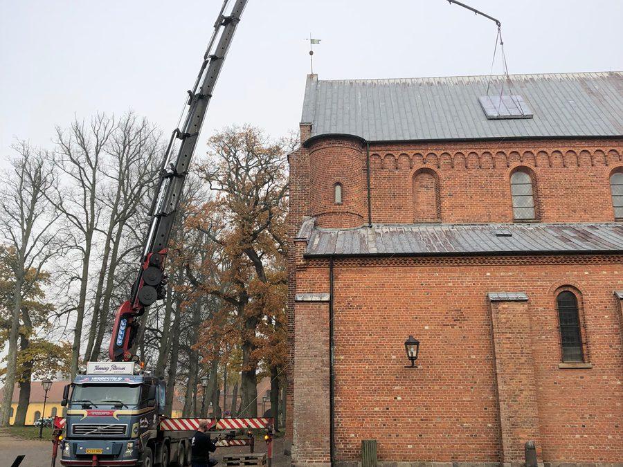 Sorø Klosterkirke, tagudskiftning af blytag