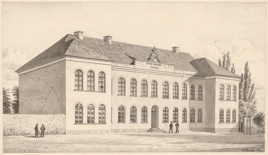 Roskilde Gymnasium: Oprindelige farver i festsalen