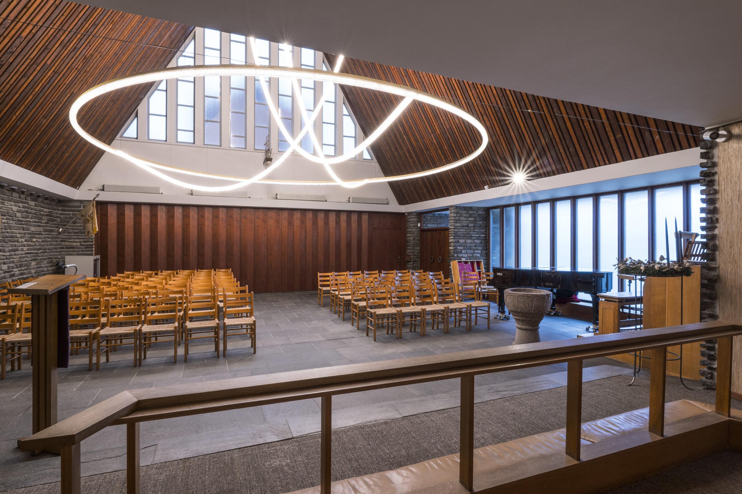 Bertelsen & Scheving - Kong Haakons Kirke - Renovering - Lysekrone