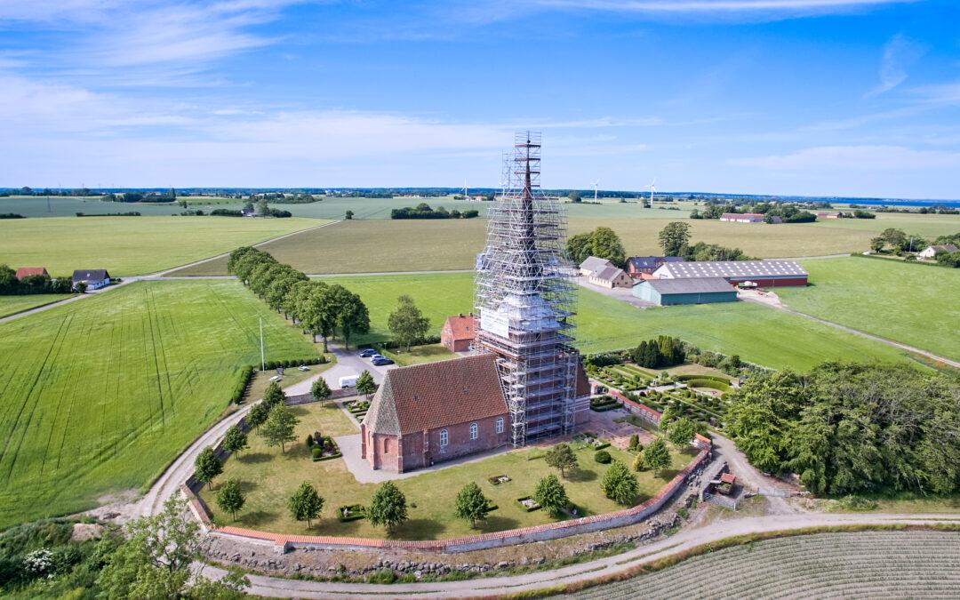 Kippinge Kirke: Istandsættelse af spir og tårn