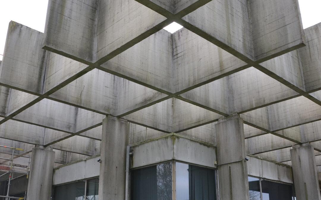 Glasalstrup: Betonrenovering af spektakulær industribygning