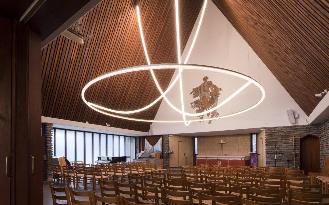 Kong Haakons Kirke: billeder af ny belysning
